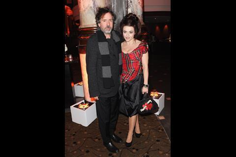 The King's Speech star Helena Bonham Carter with partner Tim Burton